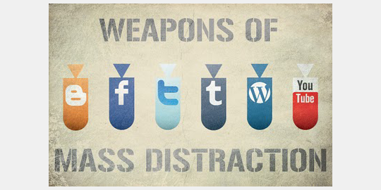 "Pas op: ""Weapons of Mass Distraction"""