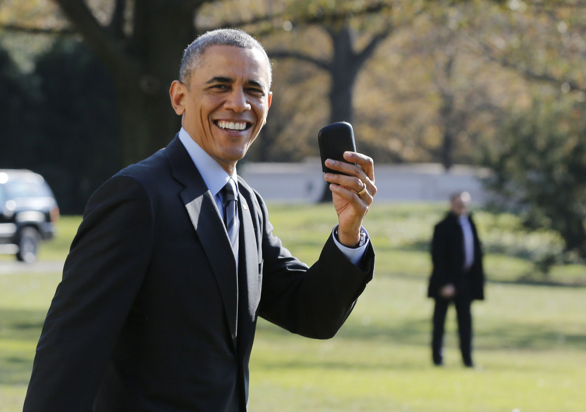 Obama and his BlackBerry