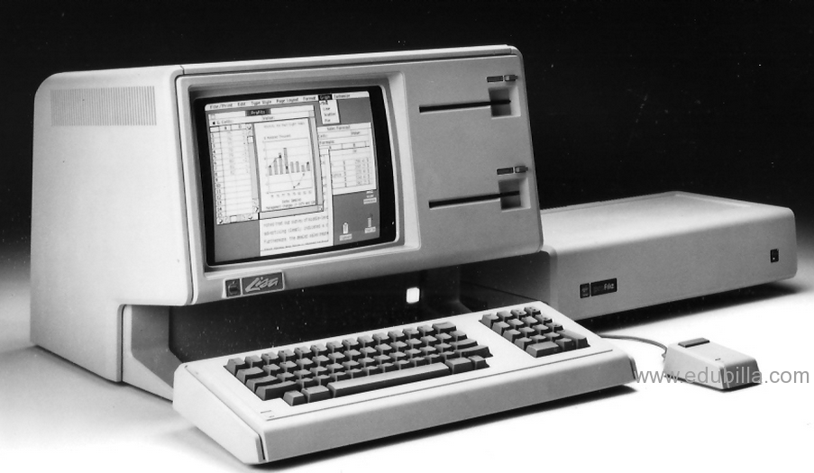 Apple Lisa inclusief grafische interface en muis